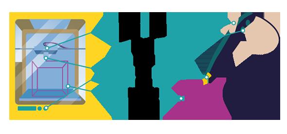 Stylo 3D illustration