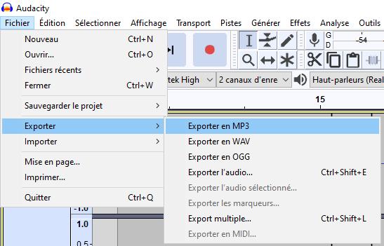 export mp3