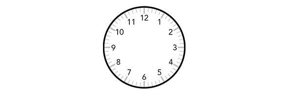 Horloge vide